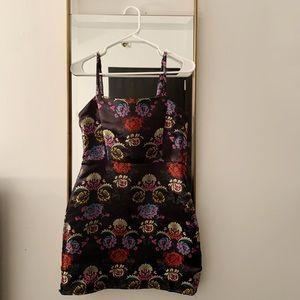 Zara mini dress, floral embroidery